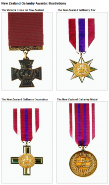 New Zealand Gallantry Awards: Illustrations